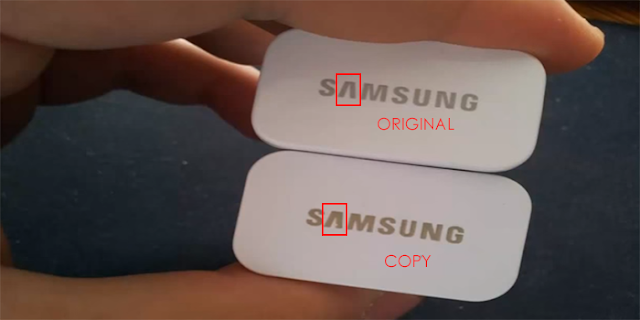 Logo Samsung Pada Bagian Atas Charger