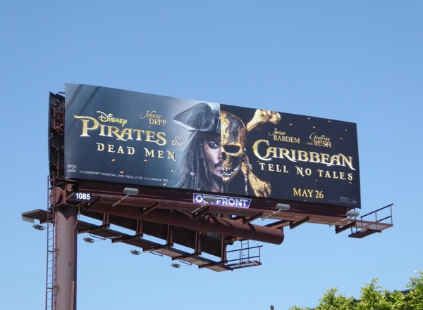 Johnny Depp Pirates Caribbean Dead Men Tell No Tales billboard