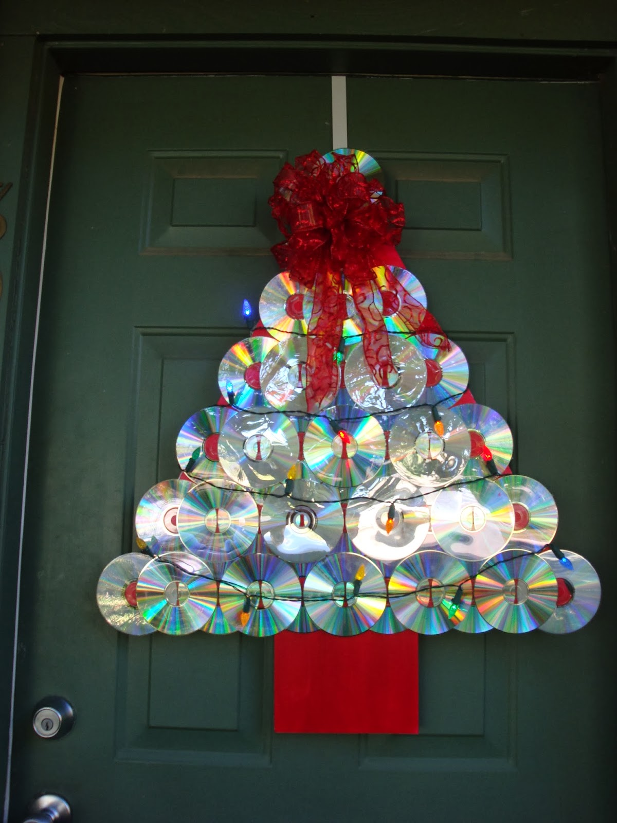 The Art Of Up Cycling Christmas Door Decorating Ideas