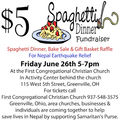 Spaghetti dinner bake sale and gift for Fundraiser dinner tickets template