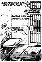 Sketch of the inside of Boggo Road cell F2, once used to hold condemned women ('Courier-Mail')..