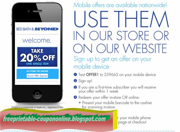 Bed bath and beyond coupon code