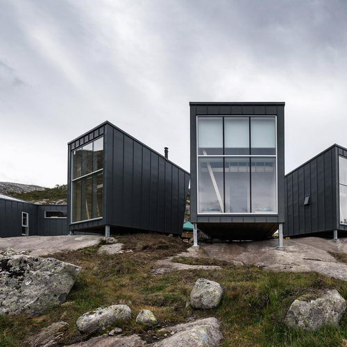 KOKO Architects completed lodges Skåpet for Stavanger Tourism Association