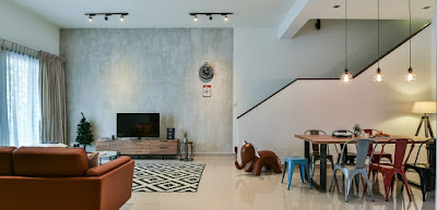 Interior design for single storey terrace house