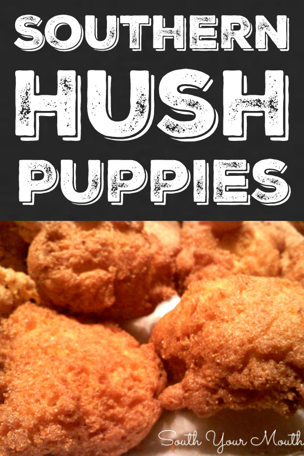 An authentic Southern recipe for Hush Puppies made with cornmeal and onions.