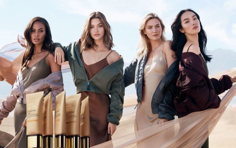 Karlie Kloss, Joan Smalls Star in Estée Lauder Double Wear Campaign