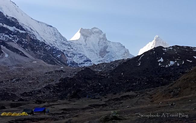 KedarKharak Campsite Kedartal trek Uttarakhand Himalayas India