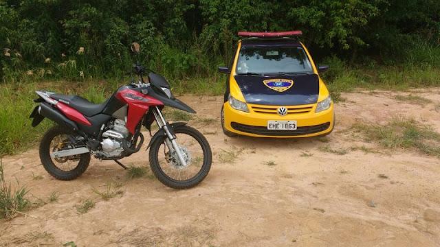 Policiais da Guarda Civil de Piracicaba localizam motos roubadas abandonadas em matagal no Bairro Itaberá próximo do Bairro Alvorada