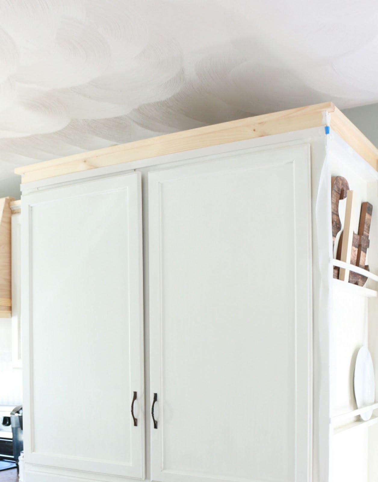 Molding On Top Of Kitchen Cabinets Anaheim Hotels With Near Disneyland My Diy Cabinet Crown How To Fake The