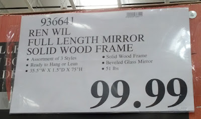 Ren Wil Full Length Mirror With Solid Wood Frame Costco