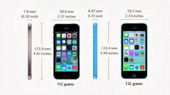 iphone x 5c comparison