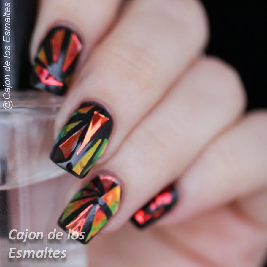 Uñas de vidrio - Vidrio roto o glass nails