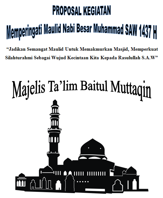 cover proposal maulid nabi muhammad 1437 H