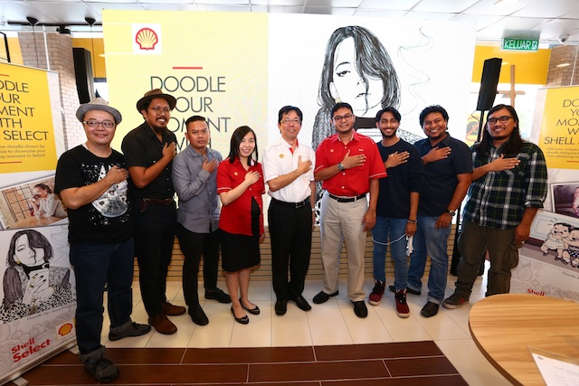 Official launch of the Doodle Your Moment campaign by Shell Select