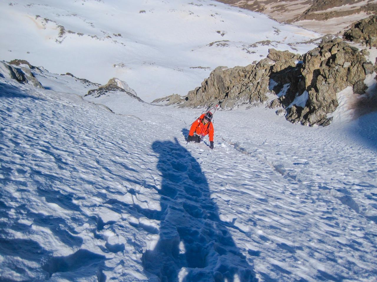 Pablo Velasco: Cara Norte del Mulhacen, clásica con esquís.