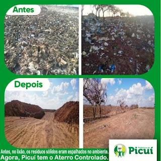 Prefeitura de Picuí cria aterro controlado onde era lixão