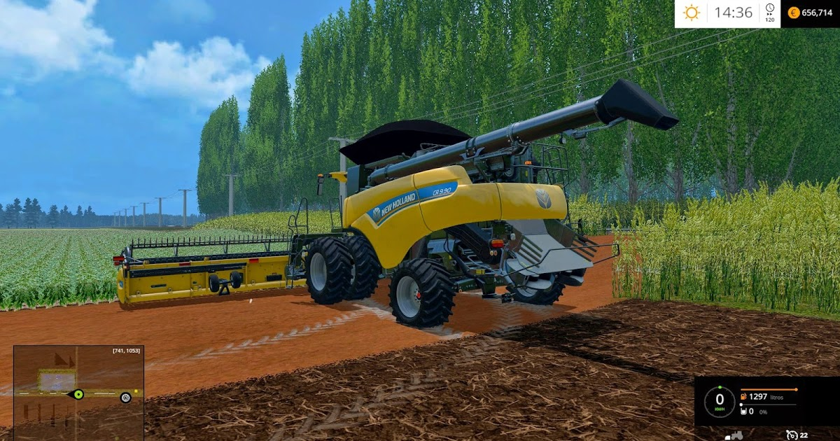 NEW HOLLAND BB1290 WET BALE for FS 15 Farming simulator 2019