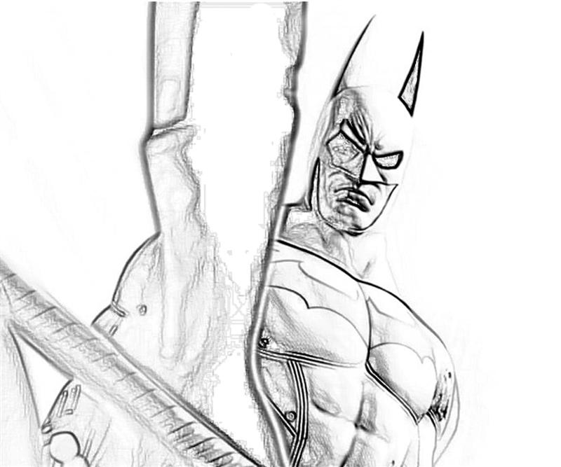 Free Coloring Pages Of Batman Arkham Asylum