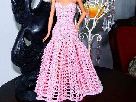 Vestido Longo de Crochê Para a Barbie - Por Pecunia MillioM 3