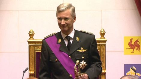 """""""Donnons au pays un nouvel élan d'enthousiasme""""  Philippe Filip Intronisé Roi des Belges Le Palais Royal en Juin 2009 - Bruxelles - 1000"""