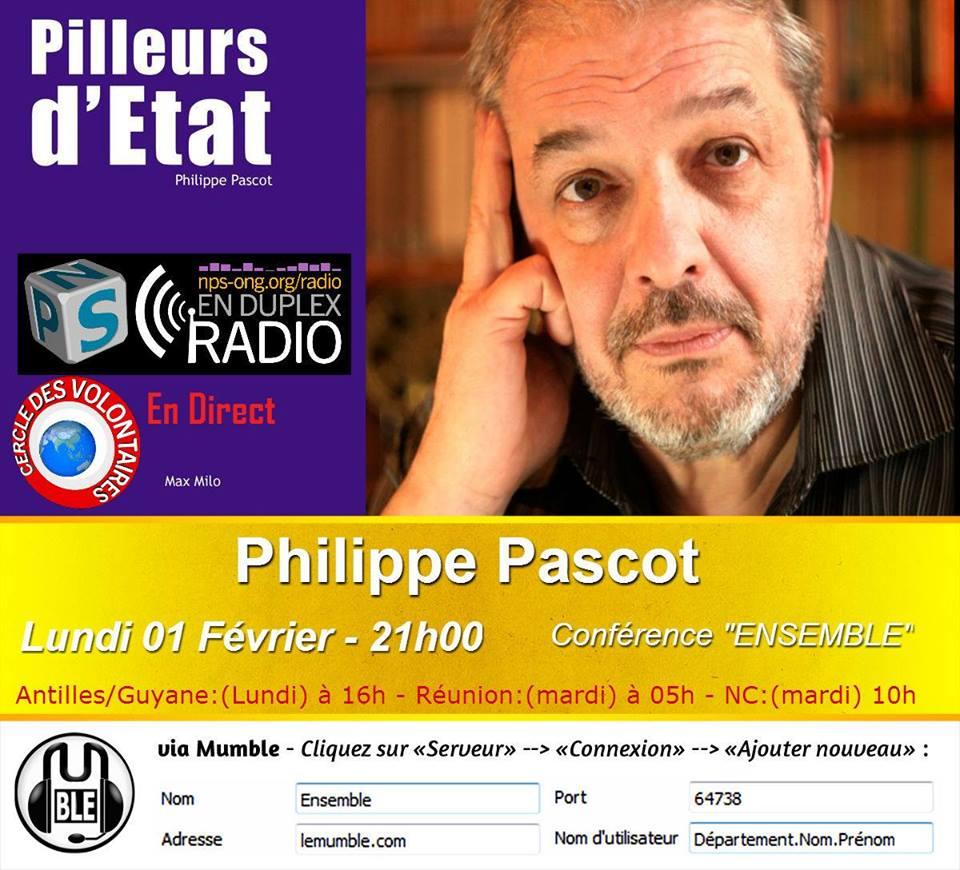 Philippe Pascot & Pilleurs d' Etats sur Mumble