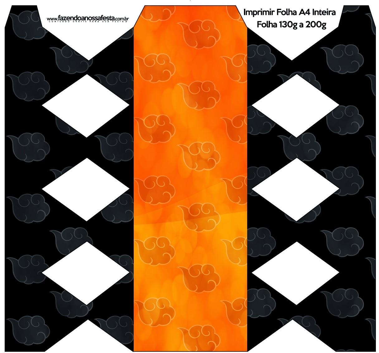 Imprimirbles para imprimir gratis de Naranja y Negro con Nubes