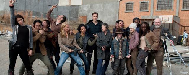 behind the scenes season 3 the walking dead cast