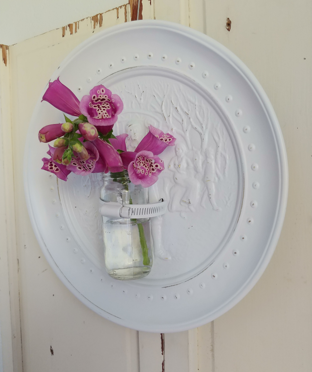 repurposed wall flower vase