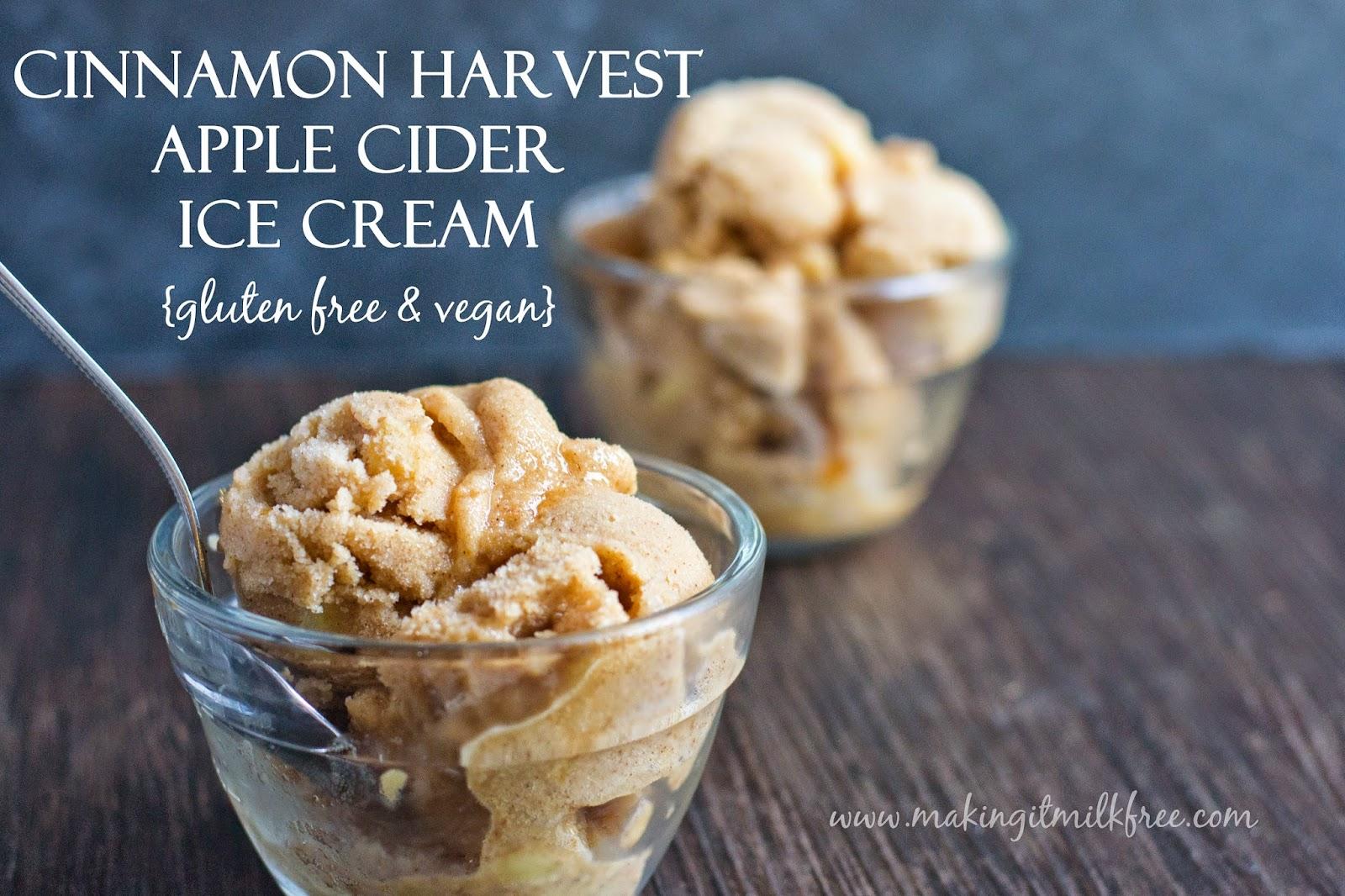 #vegan #glutenfree #fallrecipes #icecream #applecider