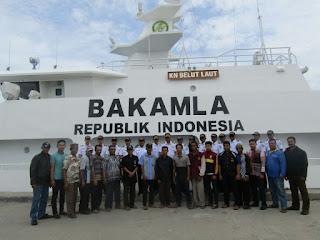 KN Belut Laut Bakamla RI Sosialisasikan Keamanan Laut di Dumai