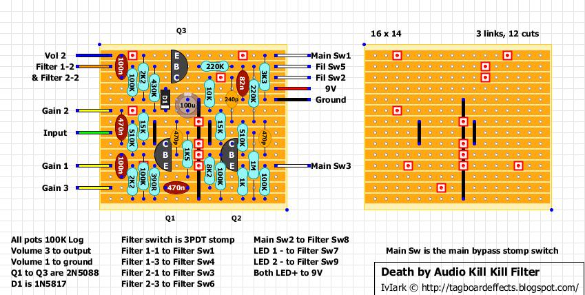Guitar FX Layouts: Death by Audio Kill Kill Filter