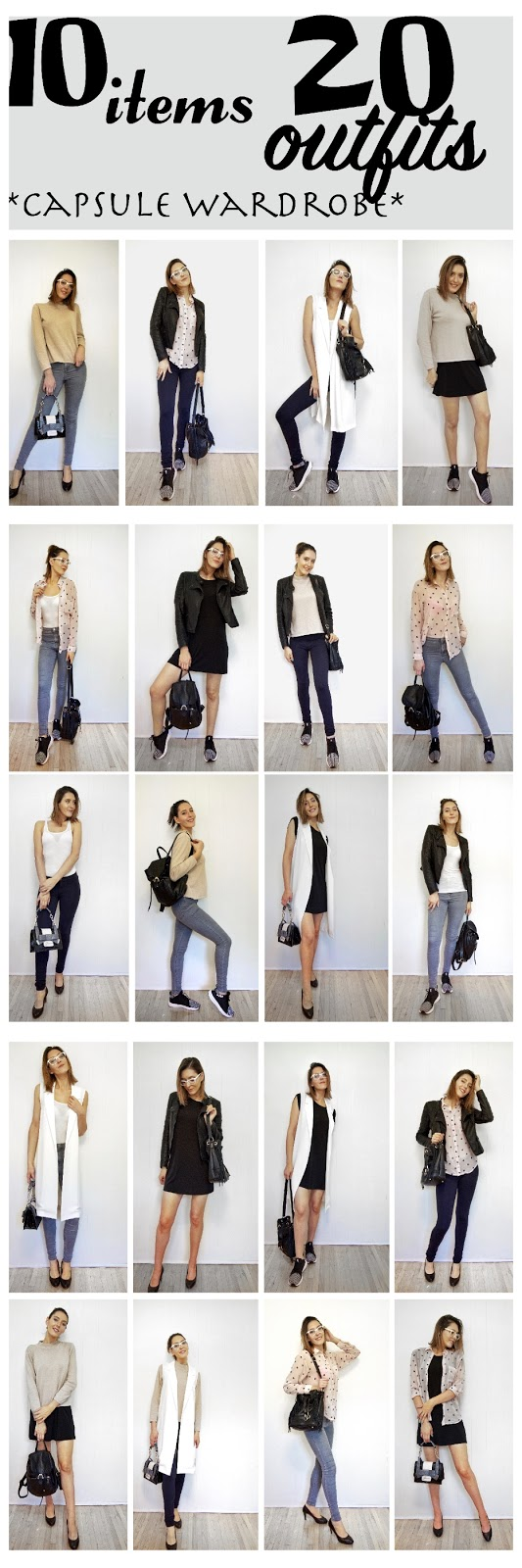 10 items 20 outfits capsule wardrobe