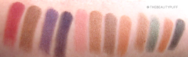 gallany cosmetics swatches - the beauty puff