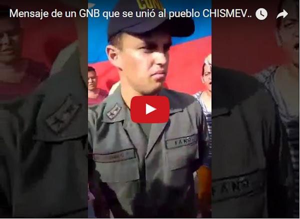 Funcionario de la GNB se une al pueblo y pide no abandonar la calle