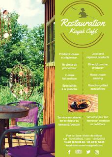 La restauration au Kayak Café