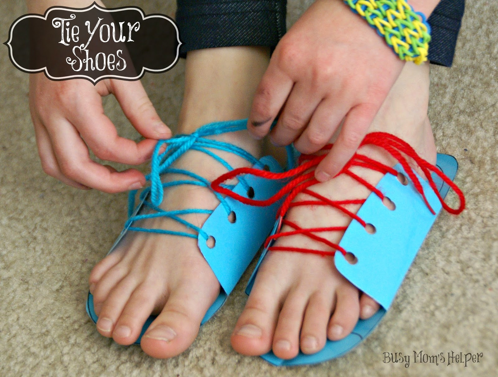 Teaching Your Kids to Tie Their Shoes Busy Moms Helper