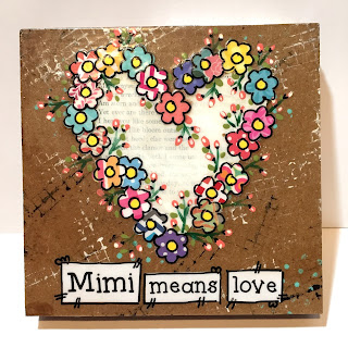 grandmother gift, Mimi gift idea, mimi means love