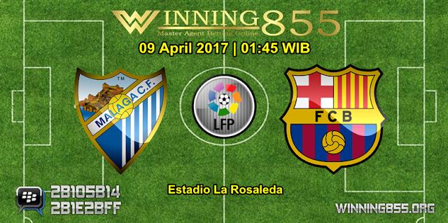 Prediksi Skor Malaga vs Barcelona 09 April 2017