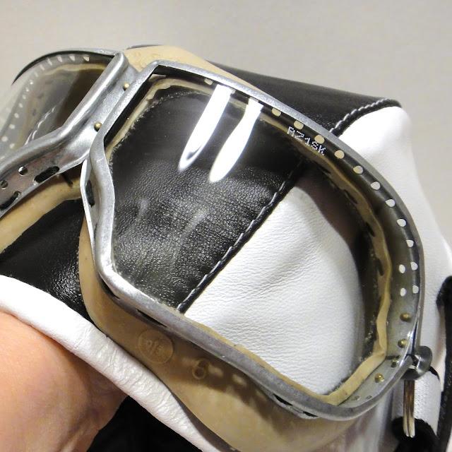 Шапка шлем летчика и очки летчика - подарок мужчине. Натуральная кожа. Цвет кожи, размер на заказ.