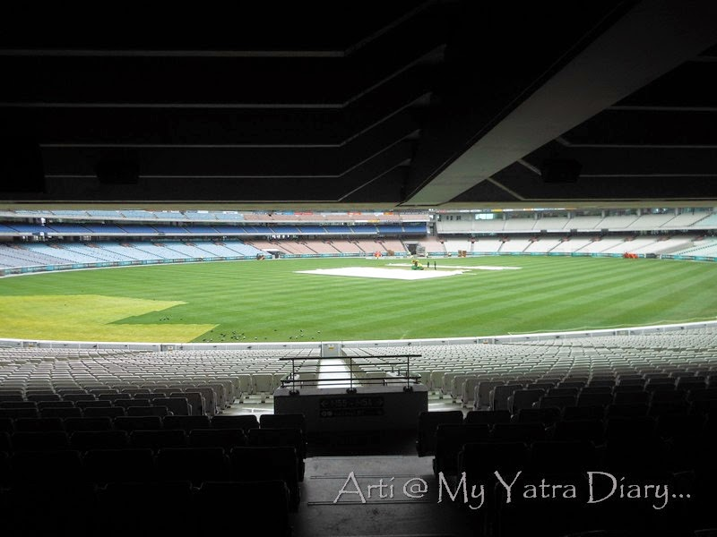 My view of the MCG cricket grounds, Melbourne Victoria