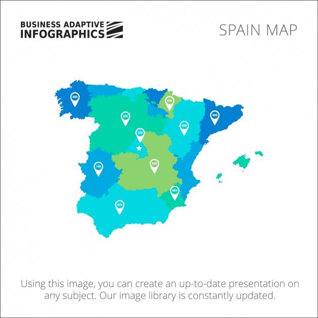 Spain Infograhic template design Free Vector