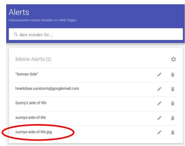 Meine Google Alerts