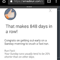 smashrun.com pic of streak day