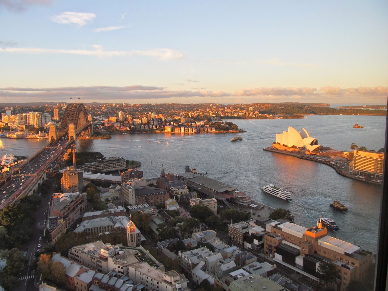 View of Sydney from Shangri-La hotel