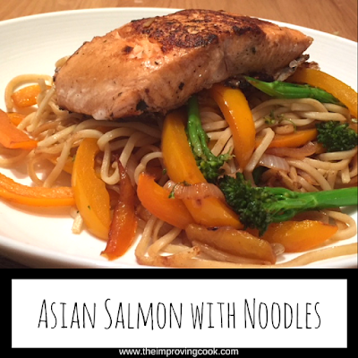 Asian Salmon with Noodles pinnable image