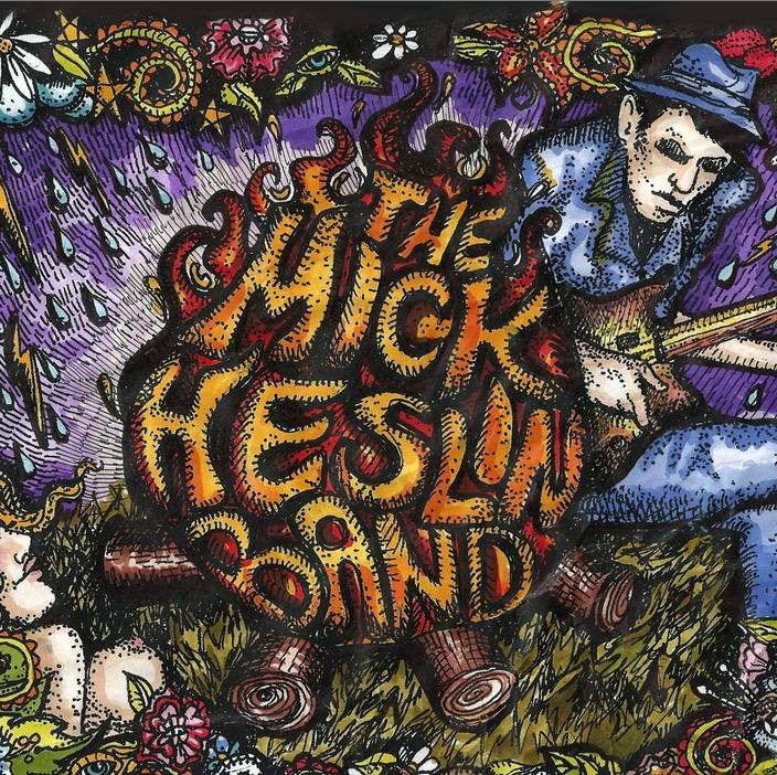 Mick Heslin Blues Band Illustration Artwork