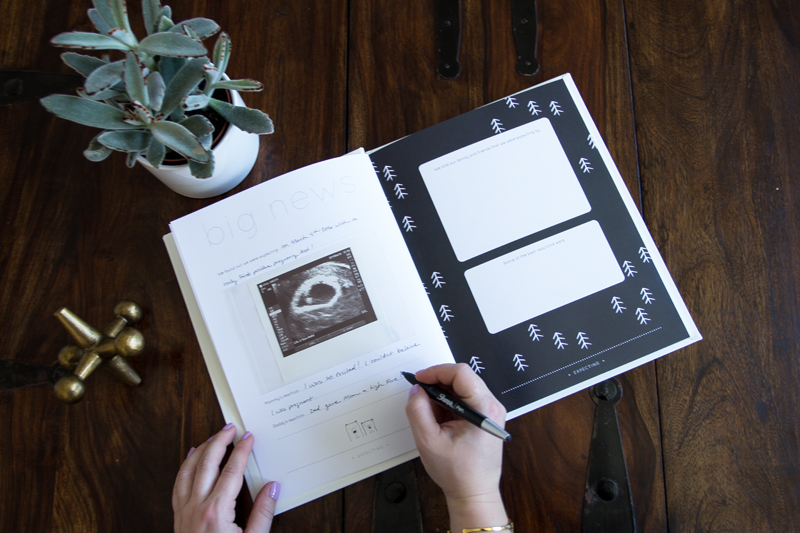 black and white modern baby book