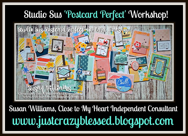 Just Crazy Blessed Postcard Perfect Cardmaking Workshop With