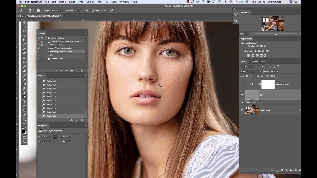 Skin Retouching Technique: Frequency Separation Made Easy