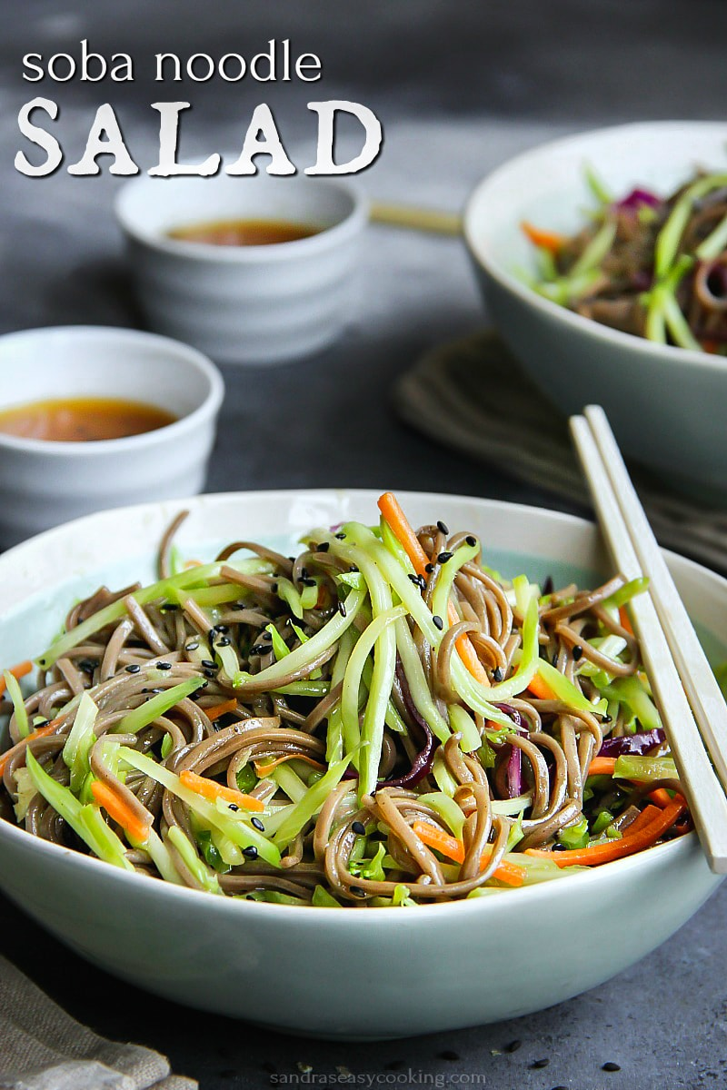 Soba Noodle Salad. Simple and delicious Buckwheat Noodle Salad with Vegetables #salad #recipe #food #homemade